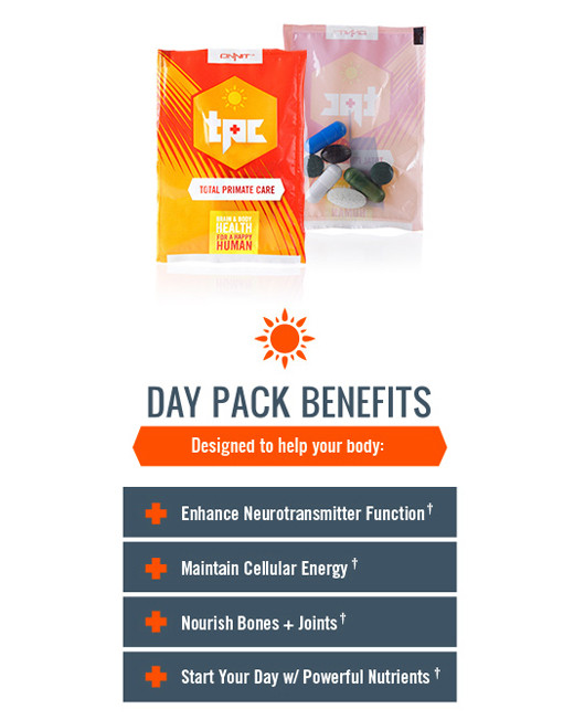 Total Primate Care day Pack Benifits