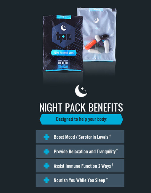 Total Primate Care Night Pack Benefits